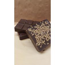 Натуральный шоколад на меду с белым льном (70% какао), на вес